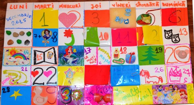 Calendar Advent - toata luna decembrie - creativitate in familie